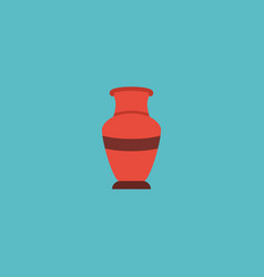 flat icon vase element of vector image vector image