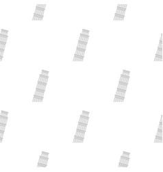 Pisa tower pattern flat vector