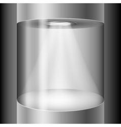 Round exhibition display vector image