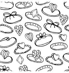 Seamless pattern with stylized rings for young vector image vector image