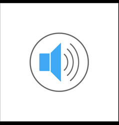 sound mode solid icon mobile sign and loud vector image vector image