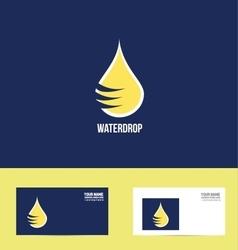 Water drop logo icon flat design vector image vector image