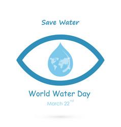 water drop with human eye icon logo design vector image vector image
