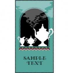 beverage menu vector image vector image