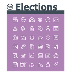 Elections icon set vector image