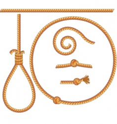 ropes vector image