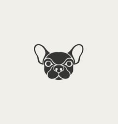 dog logo icon design template vector image