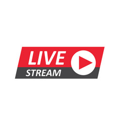 live stream sign emblem logo vector image