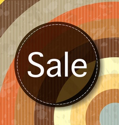 Retro Sale background vector image