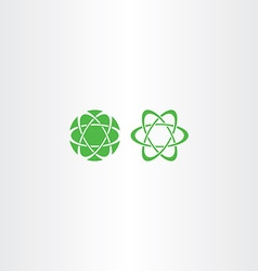 abstract green energy science logo icon vector image