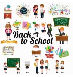 Back to school background education vector