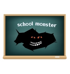 board school monster vector image