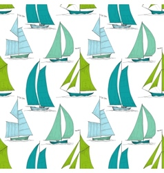 Boats on water seamless pattern marine vector image vector image