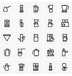 Coffee maker icons vector image vector image