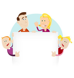 happy family sign or banner vector image