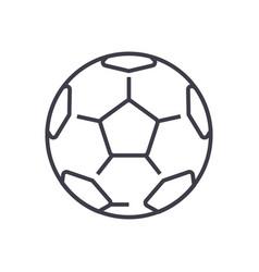 soccer ballfootball line icon sign vector image