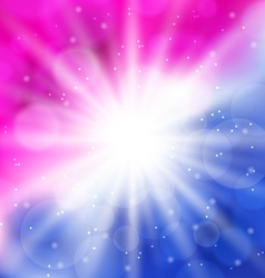 Abstract background with lens flare vector image