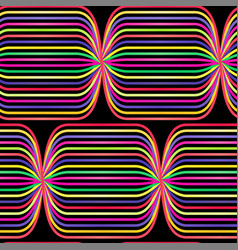 abstract seamless op art pattern colorful vector image
