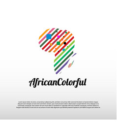 African map logo with colorful concept africa map vector