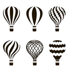 air balloon set vector image