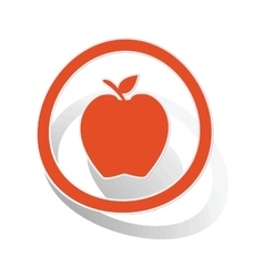 Apple sign sticker orange vector