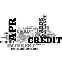 apr credit card benefits text word cloud concept vector image