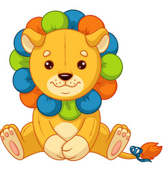 baby toy lion vector image