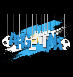 Banner the inscription argentina vector