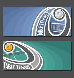 banners for table tennis vector image