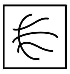 Basketball ball symbol vector