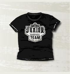 Basketball junior team emblem vector