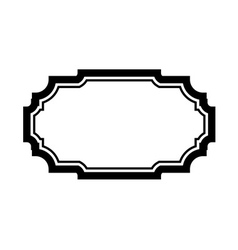 Black frame picture simple design vector