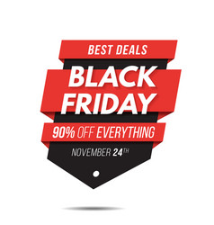 black friday label price tag sale banner badge vector image