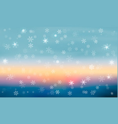 blue background with snowflakes winter vector image