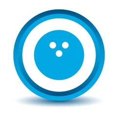 Blue bowling icon vector