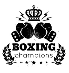 Boxing champions plant vector