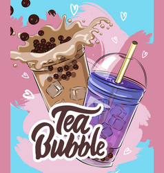 Bubble tea menu vector