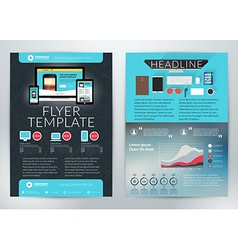 Business flyer template for business purpose vector