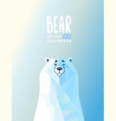 cartoon bear polar vector image