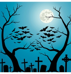 Cemetery blue vector