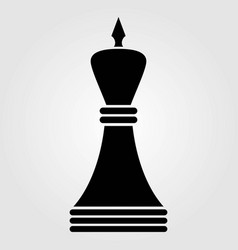 chess king icon isolated on white background vector image