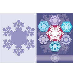 Christmas card with snowflakes geometric design vector image