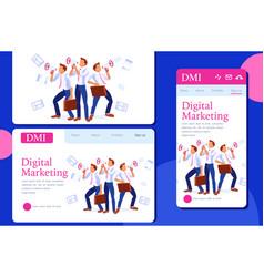 Commercial alert concept message marketing vector