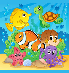 Coral fish theme image 2 vector