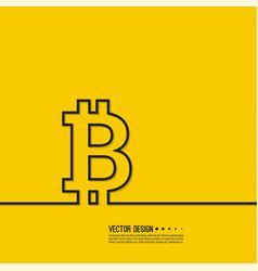 Crypto currency bitcoin internet vector