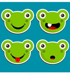 Cute Frog Stickers vector