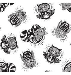 day dead ink sugar animals skull vector image
