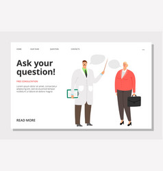 Doctor consultation banner vector