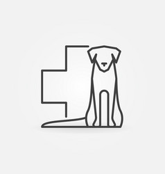 dog with veterinary cross icon vector image