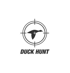 Duck hunt shooting club logo patches vector